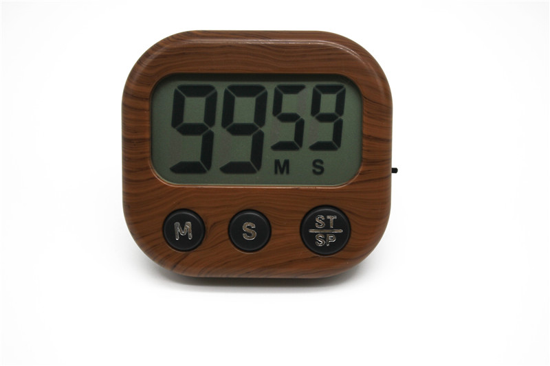 Magnetic LCD Digital Kitchen Countdown Timer Alarm with Stand White ...