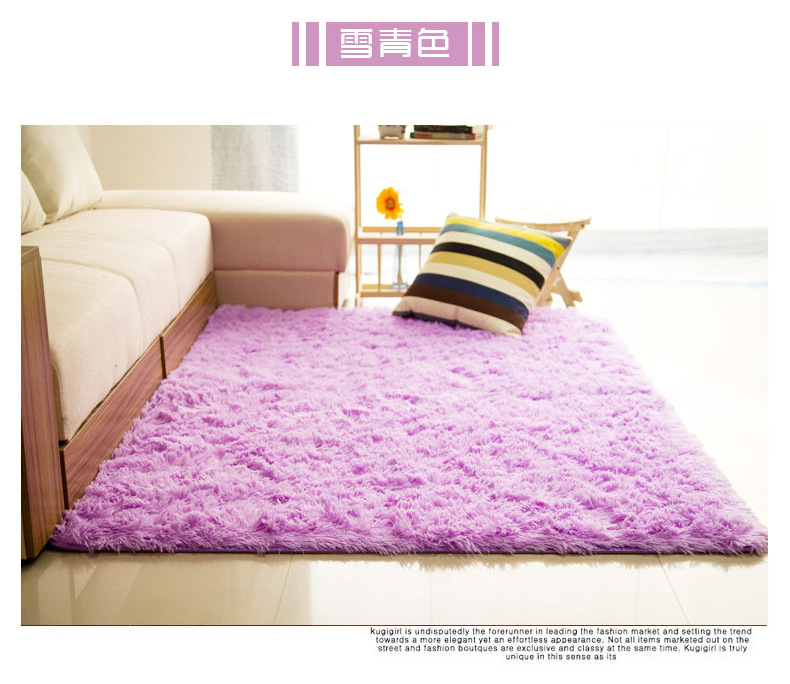 Plush Soft Shaggy Alfombras Carpet Faux Fur Area Rug Non-slip Floor ...