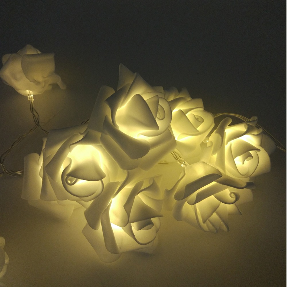cheap 1m 10 pcs roses string lights warm white (6)