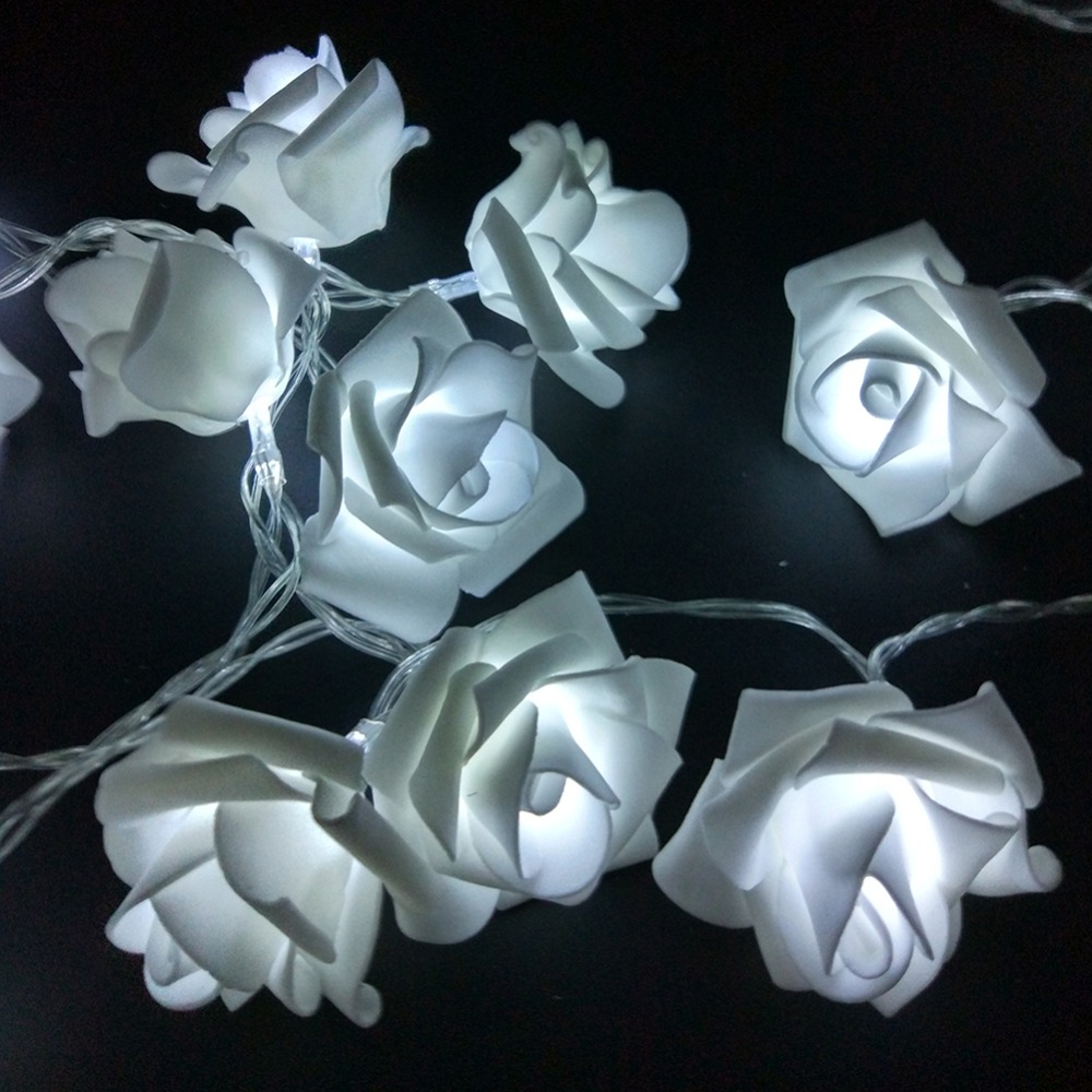 cheap 1m 10 pcs roses string lights warm white (1)