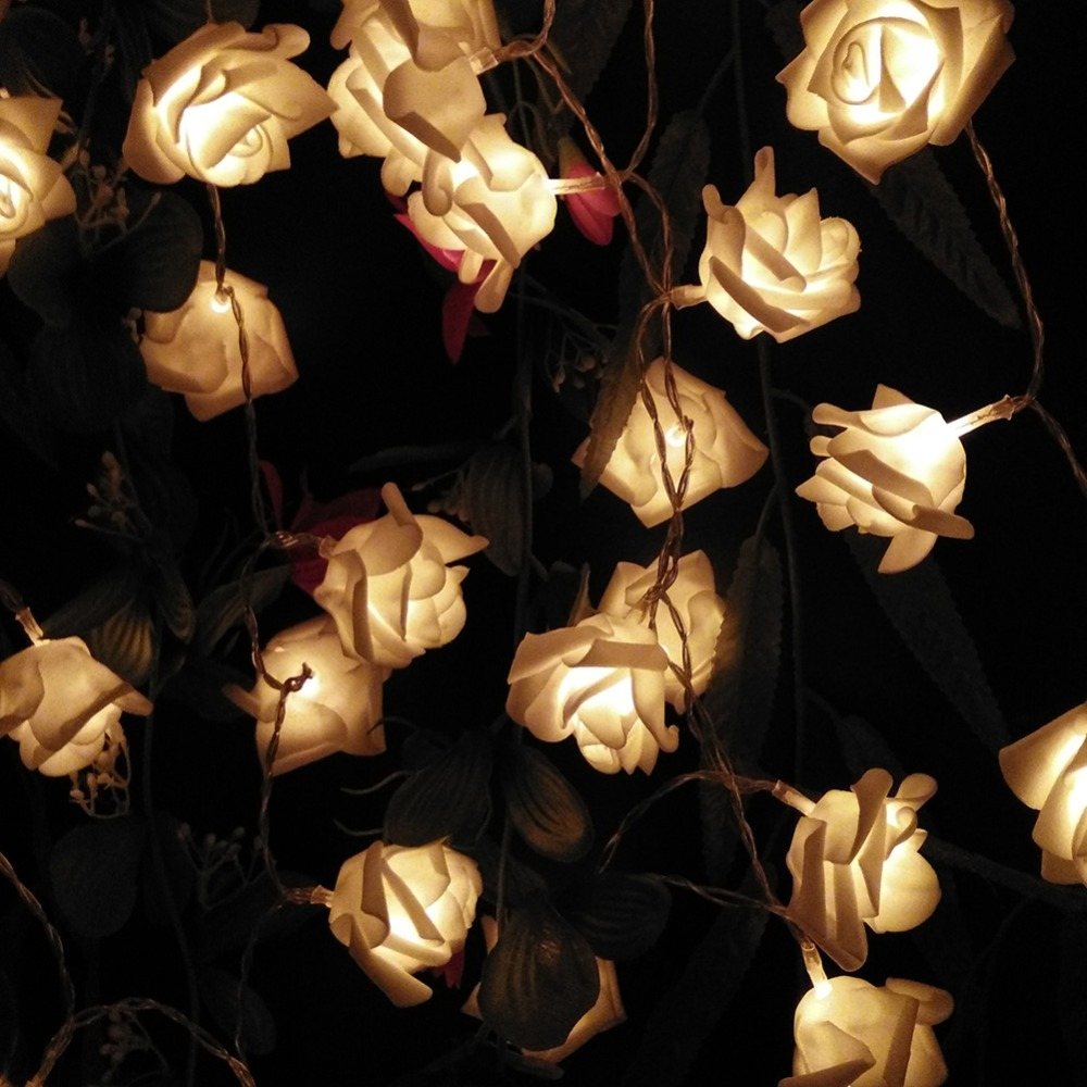 cheap 1m 10 pcs roses string lights warm white (3)