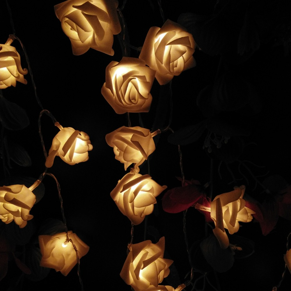 cheap 1m 10 pcs roses string lights warm white (4)