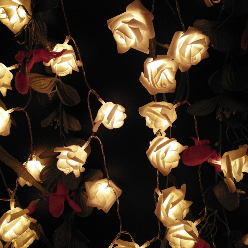 cheap 1m 10 pcs roses string lights warm white (5)