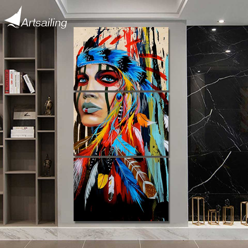 Art native American Indian art Painting feathered wall pictures