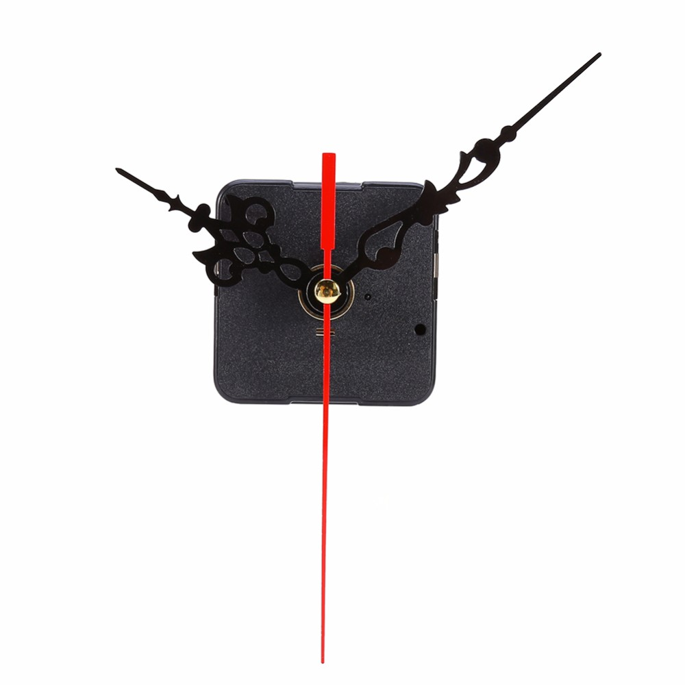 DIY Clock Mechanism Classic Hanging Black Quartz Watch Wall