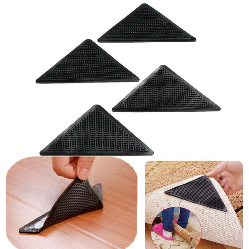 Reusable Washable Rug Carpet Mat Grippers Non Slip Silicone Grip
