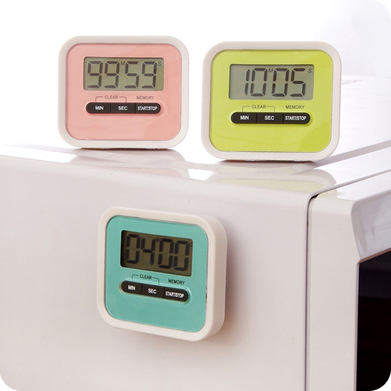 5Colors Leading Life Practical Use Digital Large LCD Display Home Kitchen Timer Electronic Kitchen Cooking Timer Stopwatch