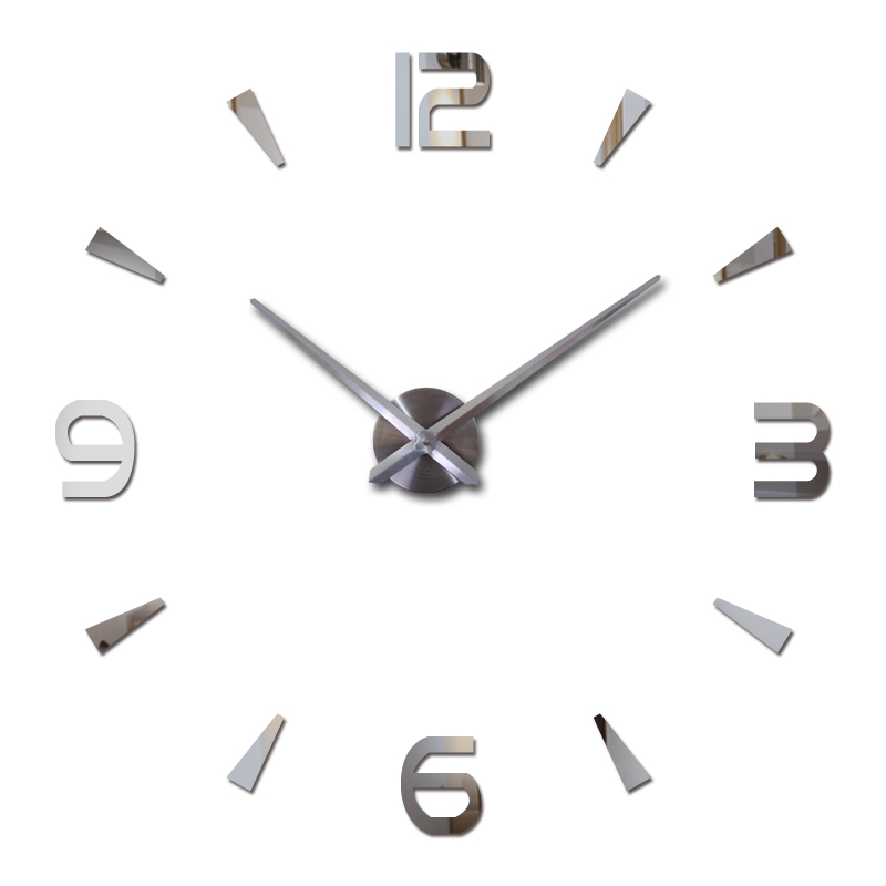 wall clock quartz watch reloj de pared modern design large decorative clocks Europe acrylic stickers living room klok clock