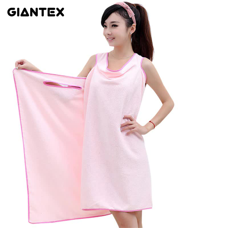 GIANTEX Bathroom Women Microfiber Bath Towels for adults Wearable Beach Towel Bath Wrap Towel Bath Gown serviette de bain toalha
