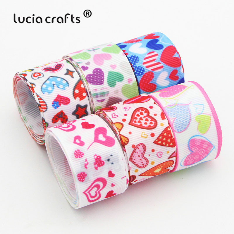 Lucia Crafts  Xmas  Grosgrain Satin Ribbons DIY Sewing Hairbows Gift  Ribbon Accessory S0101