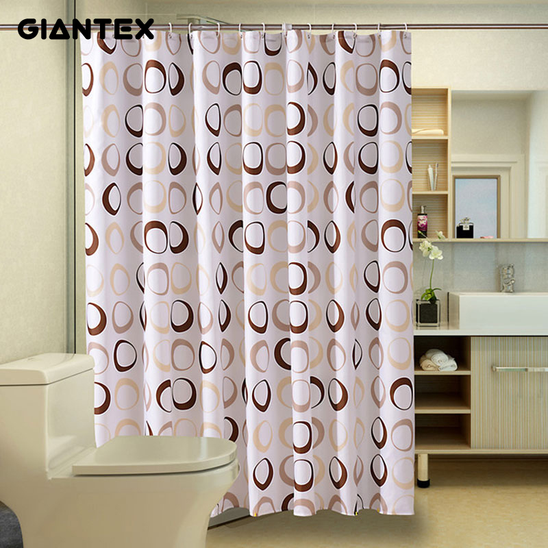 GIANTEX Circle Bathroom Curtain Waterproof Shower Curtains for Bathroom Cortina Ducha Rideau De Douche Douchegordijn U1089