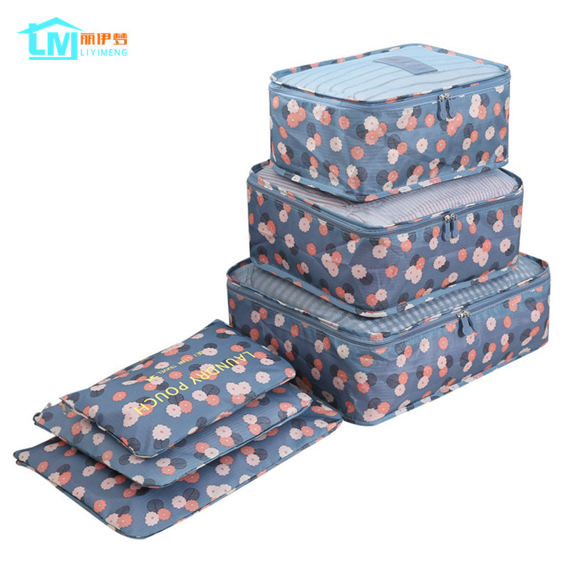 LIYIMENG 6Pcs/Set Travel Storage Bag Home Organizer Box For Clothes Tidy Pouch Suitcase Clothing Divider Container Outdoor Boxes