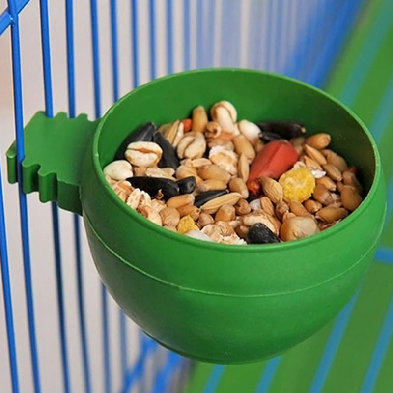 New Parrot Bird Hamster Feed Bowl Cage Hanging Drinking Food Feeder Cup Bowl Feeding bowl tools