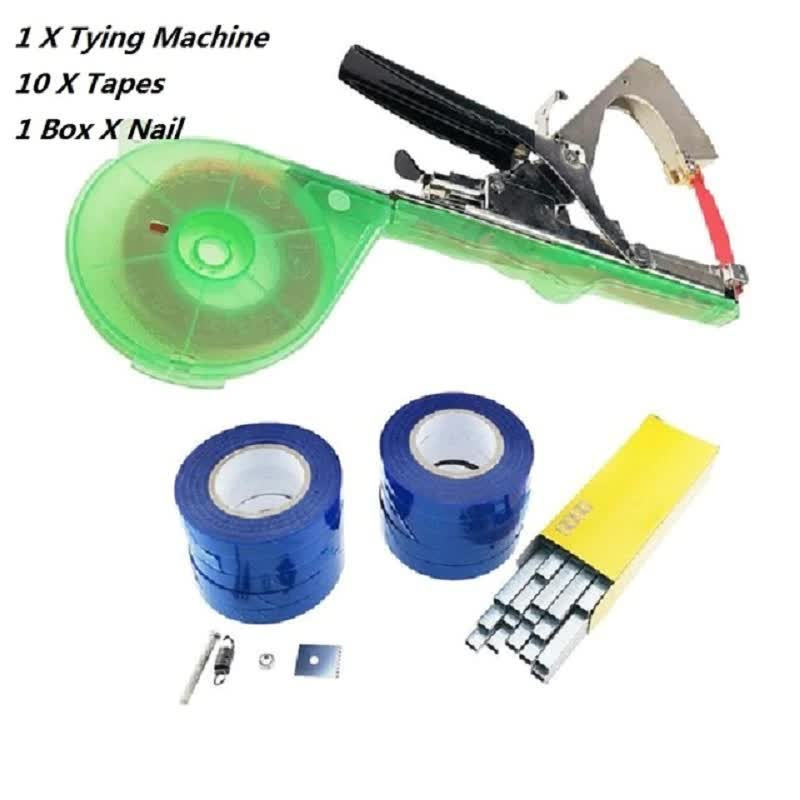 Garden Tools Plant  Plant Branch Hand Tying Binding Machine Minced Vegetable Tapetool Tapener Tapes Home Garden