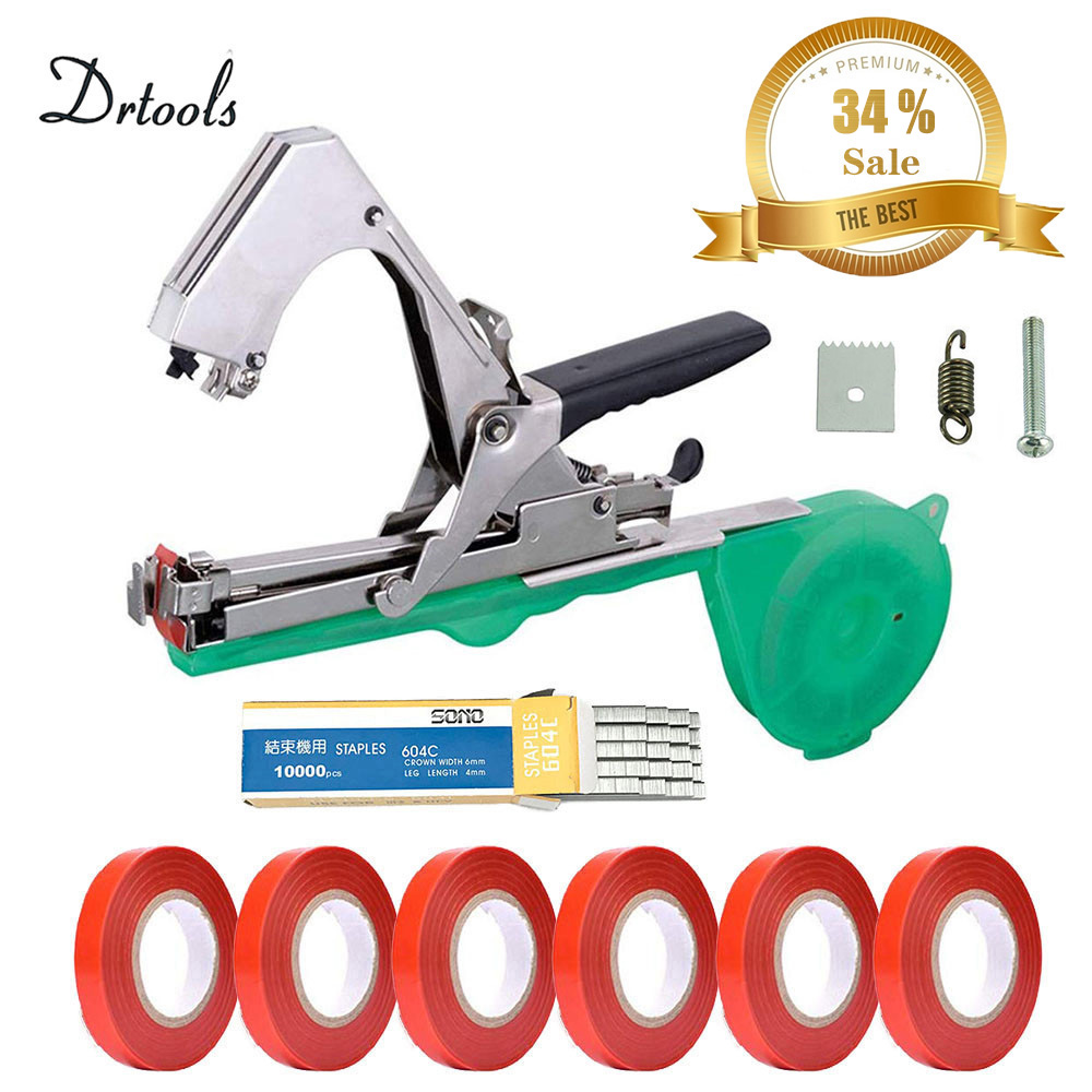 Drtools Garden Tools Garter Plants Plant Branch Hand Tying Binding Machine  Minced Vegetable Tapetool Tapener Tapes Home Garden