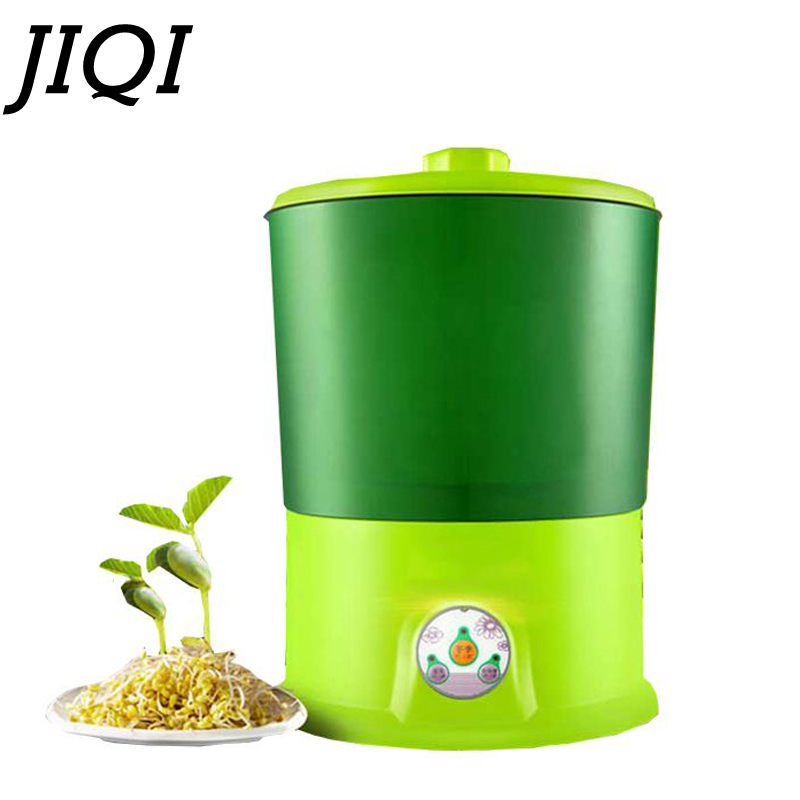 JIQI 220V Home DIY Bean Sprouts Maker 2 / 3 Layer Automatic Electric Germinator Seed Vegetable Seedling Growth Bucket