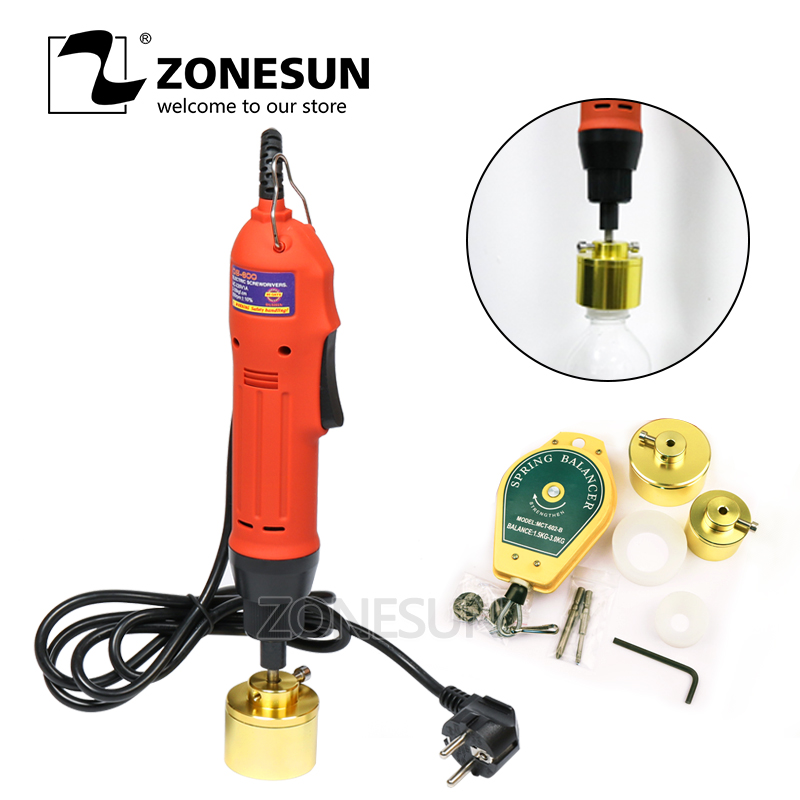 ZONESUN Manual Semi Automatic Vial Electric Plastic Bottle Capping Machine Bottle Capper Cap Screwing Sealing Machine