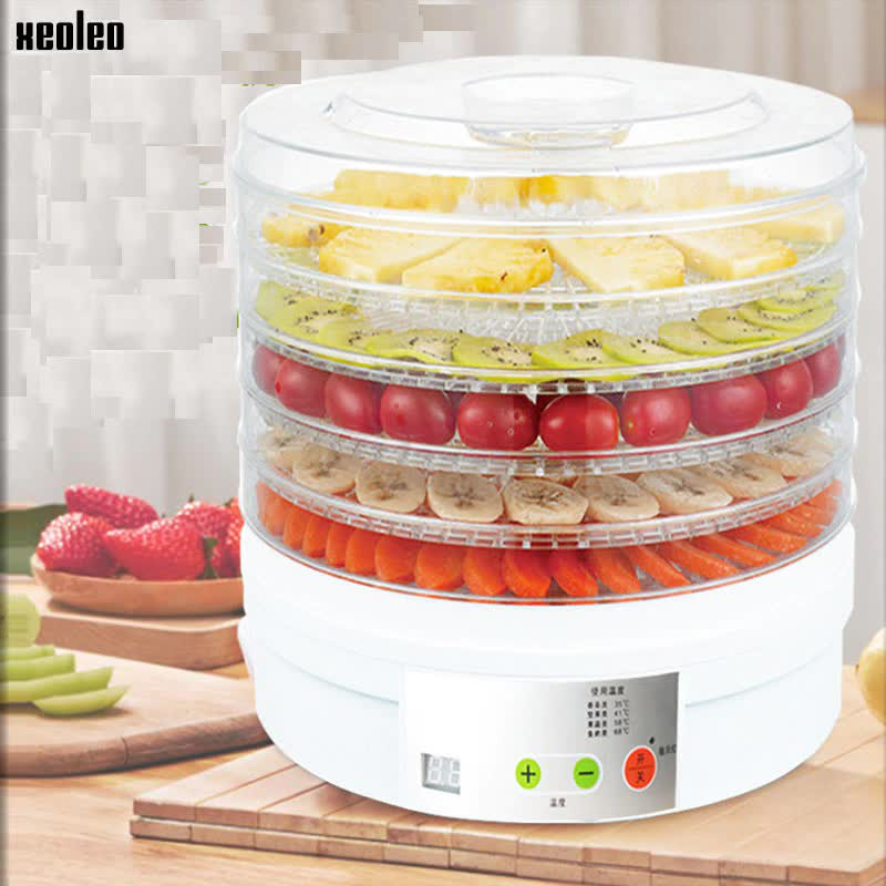 XEOLEO Food Dehydrator 5 layers Fruit Drying machine Food dehydration dryer Household White Fruit/Vegetable dryer 15L 350W 220V