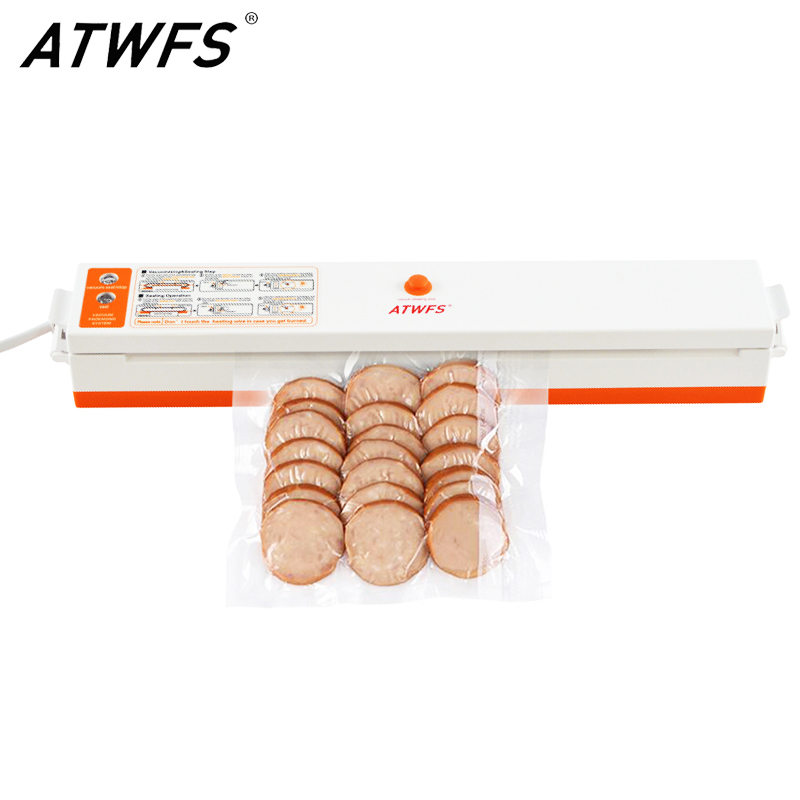 ATWFS Vacuum Sealer Packing Sealing Machine Best Portable Food Vaccum Sealer Kitchen Packer with 15pcs Vacuum Bag for Food Saver