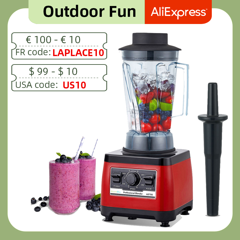 【7 Years Warranty】BPA Free Heavy Duty Commercial Grade Blender Professional Mixer Juicer Ice Smoothies Peak 2200W