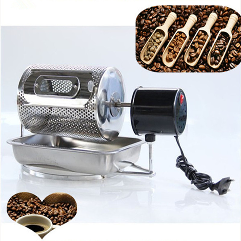 Electric stainless steel coffee roaster machine peanut cashew chestnuts roasting baking equipment 110v 220v