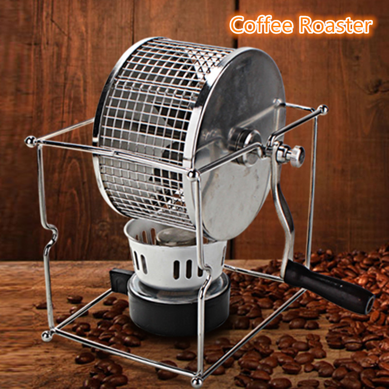 Stainless Steel Hand Coffee Bean Roaster Roasting Machine Home Roaster Peanut Roaster With Burner