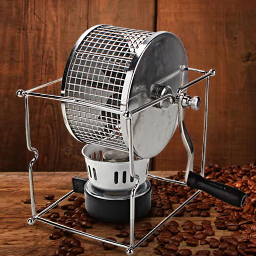 Hot304Stainless Steel Handuse Coffee bean roaster Espresso coffee bean Roaster with a burner