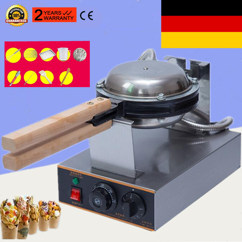 110V 220V Commercial Electric Egg Bubble Waffle Maker Machine Eggettes Puff Cake Iron Maker Machine Bubble Egg Cake Oven
