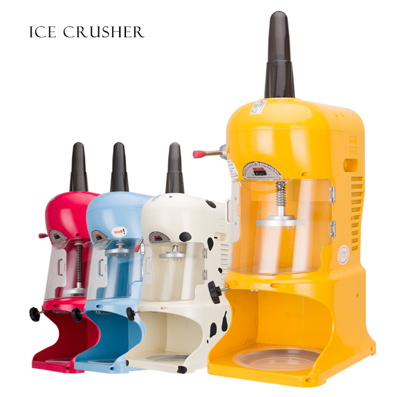 Automatic Ice Crusher Snowflake Shaved Ice Machine Electric Ice Block Crusher Commercial Ice Crushing Machine
