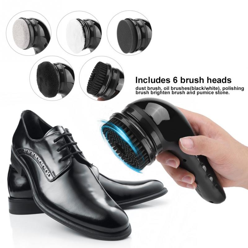 Portable Handheld Automatic Electric Shoe Polisher Automatic Shoe Polishing Machine Cleaning Brush Shoe Leather Care Tools
