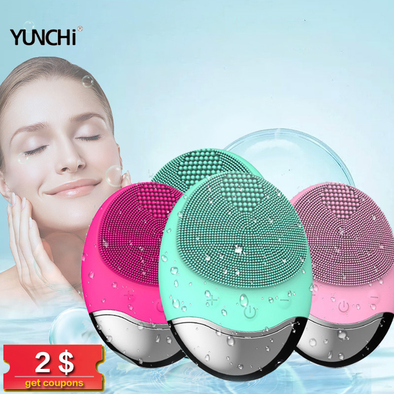 Electric Facial Cleansing Brush Anion Imported Wireless  Facial Brush Pore Dirts Cleanse Anti Aging Wrinkle Facial Cleanser