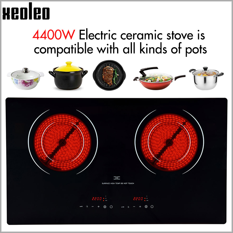 XEOLEO Dual-Cooker Electric Ceramic Cooker 4400W household Radiation-free Induction cooker with lock&timing Induction cooker