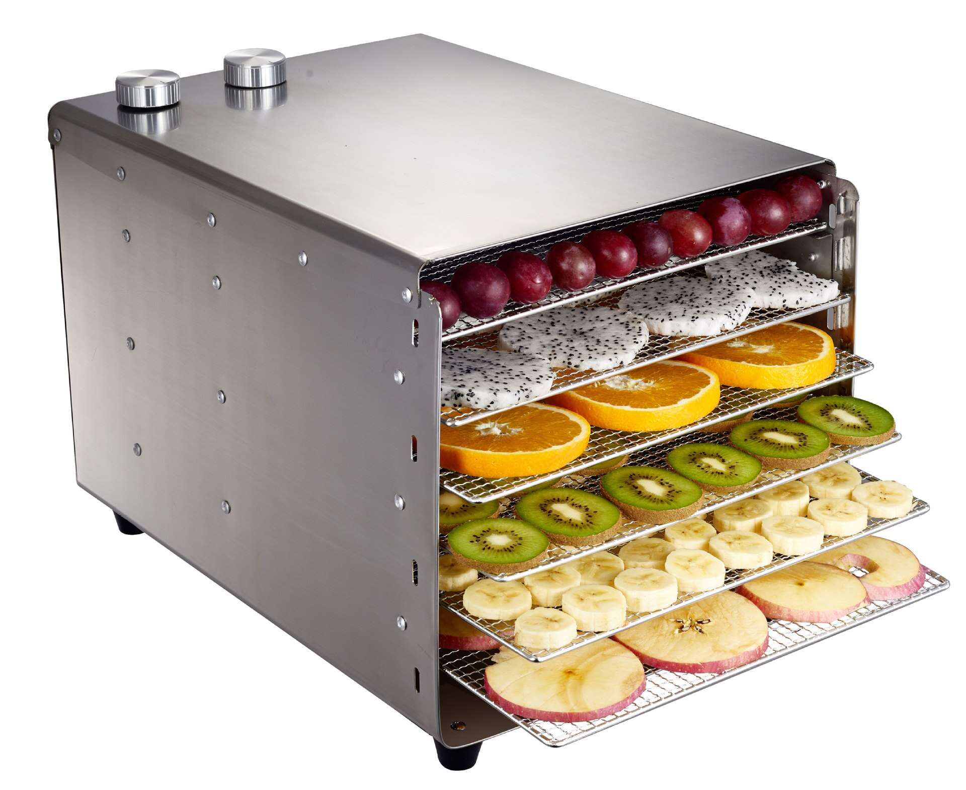 SEPTREE 6 Layers Stainless Steel Food Dehydrator for Mushroom Fruit Vegetable Dryer Meat Machine Home Commercial Snacks Drying