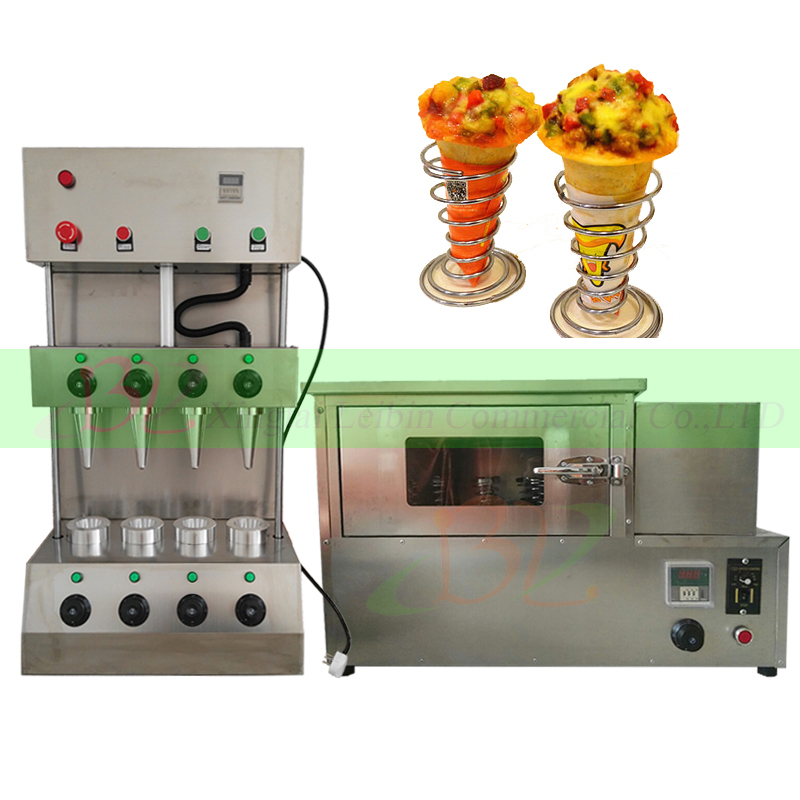 Commercial Four heads Sweet pizza cone machine 3000W/ 304 stainless steel Pizza Cone Oven