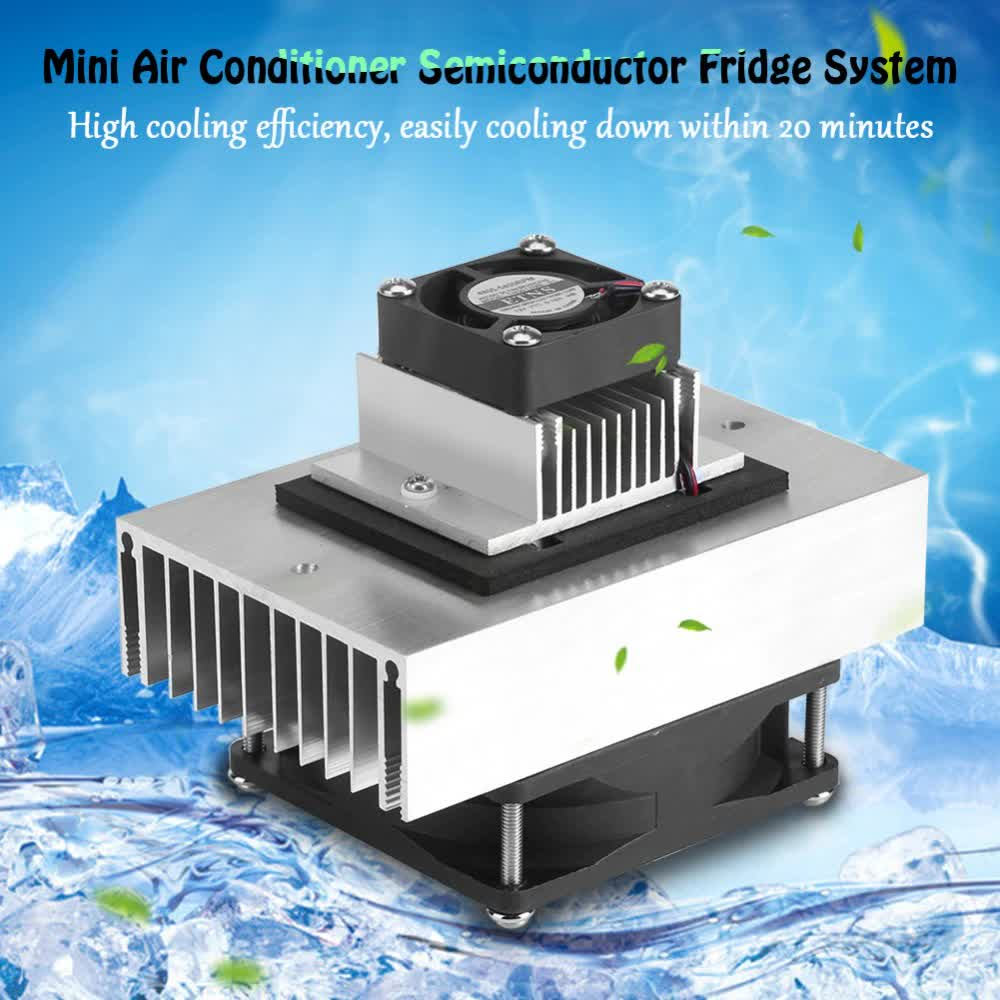 DIY Cooling System Kit Semiconductor Thermoelectric Peltier Refrigeration Cooling System Mini Air Conditioner Cooling System