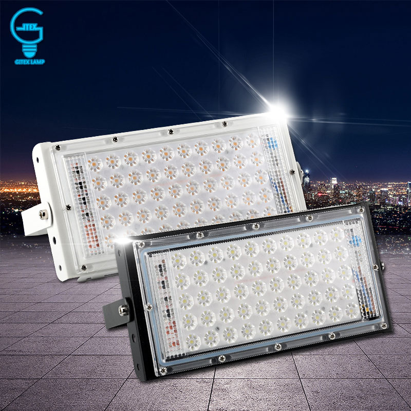 LED Flood Light 50W 220V 240V Floodlight IP65 Waterproof Outdoor Wall Reflector Lighting Garden Square Spotlight