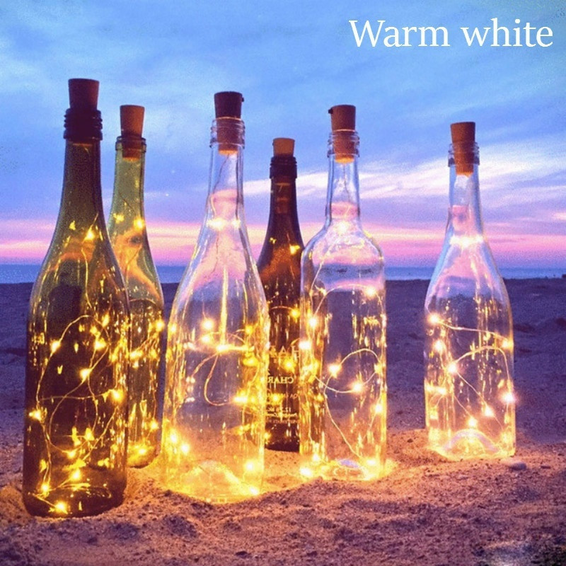 10 LEDs Solar Powered Cork Shaped LED String Light Copper Garland Wire String Light Christmas Holiday Party Wedding Decoration 4