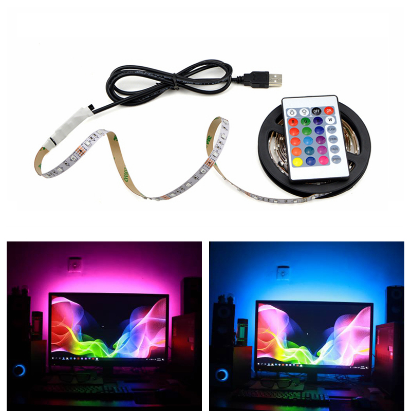 RGB Light led strip For Kicthen USB Lamp 1M 2M 3M 4M 5M Waterproof Neon Led Lights for Cabinet TV Backlight Night Lamp LED Diode